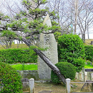 Monument commemorating founder Teizo Matsuwaka, built by the villagers in 1920